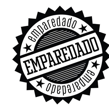 sandwiches black stamp in spanish language. Sign, label, sticker