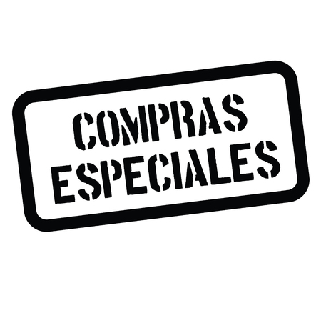 special buy black stamp in spanish language. Sign, label, sticker