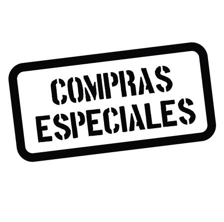 special buy black stamp in spanish language. Sign, label, sticker