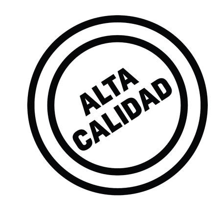 high quality black stamp in spanish language. Sign, label, sticker