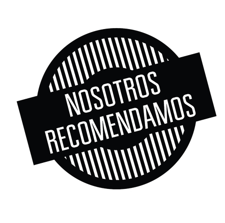 we recommend black stamp in spanish language. Sign, label, sticker