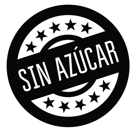 sugarfree black stamp in spanish language. Sign, label, sticker