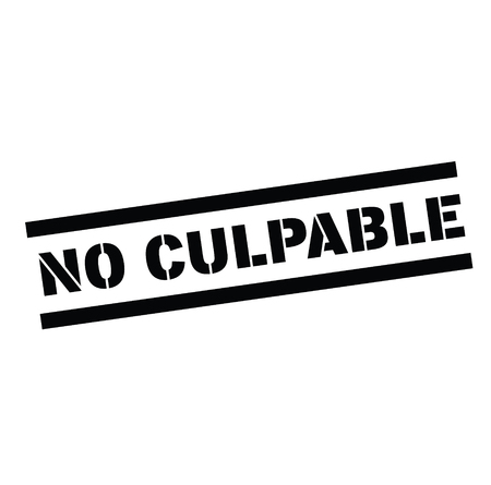 not guilty black stamp in spanish language. Sign, label, sticker