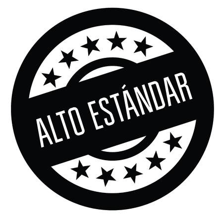 high standard black stamp in spanish language. Sign, label, sticker 일러스트