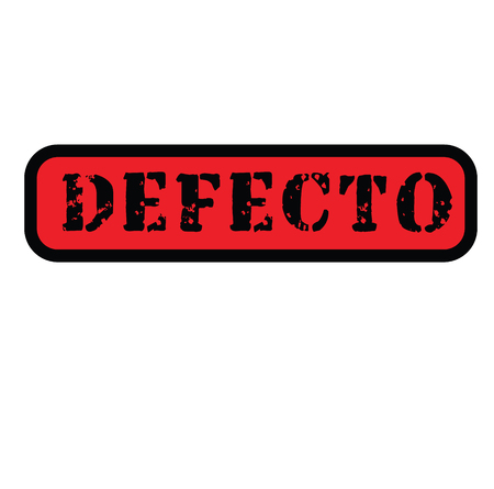 defect black stamp in spanish language. Sign, label, sticker
