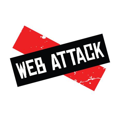 web attack rubber stamp black. Sign, label sticker
