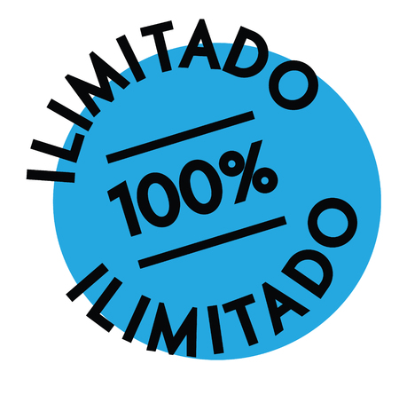 unlimited black stamp in spanish language. Sign, label, sticker