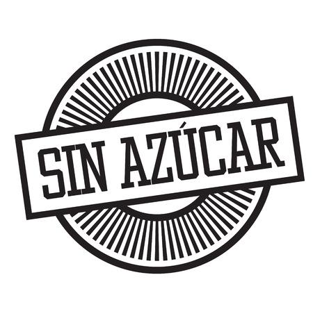 sugar free black stamp in spanish language. Sign, label, sticker