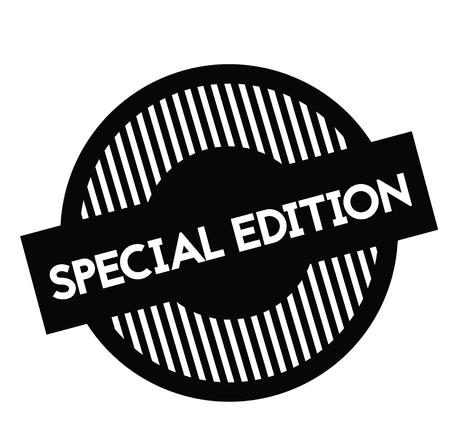 special edition rubber stamp black. Sign, label sticker