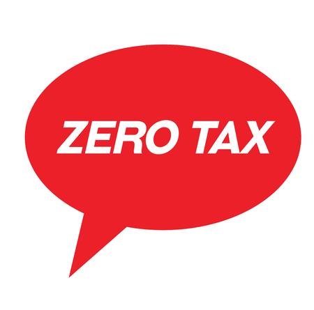 zero tax rubber stamp black. Sign, label sticker 向量圖像