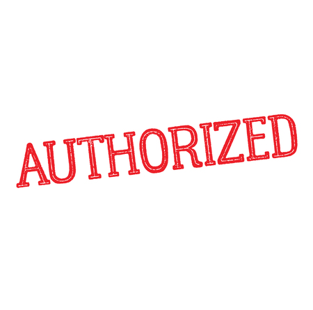 authorized rubber stamp Illustration