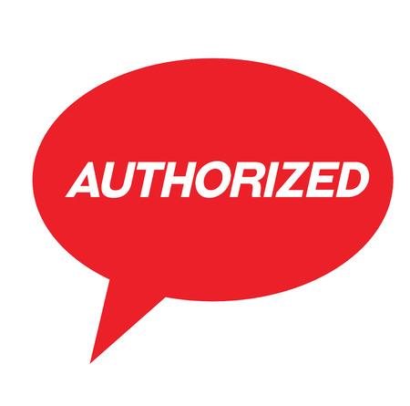 authorized rubber stamp black. Sign, label sticker Vecteurs