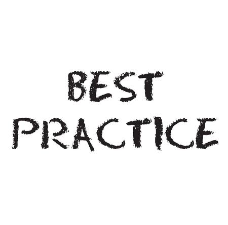 best practice rubber stamp Vector Illustration