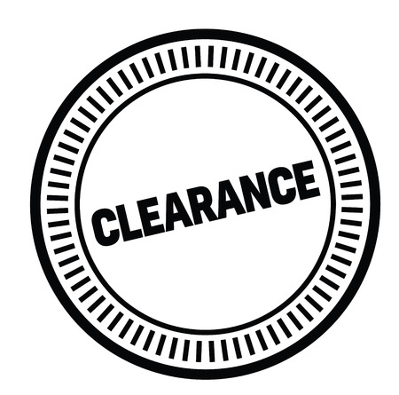 clearance rubber stamp