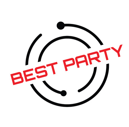 best party rubber stamp