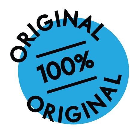 original rubber stamp black. Sign, label sticker