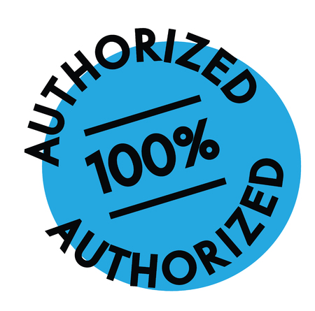 authorized rubber stamp black. Sign, label sticker