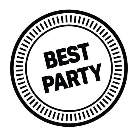 best party rubber stamp Vectores