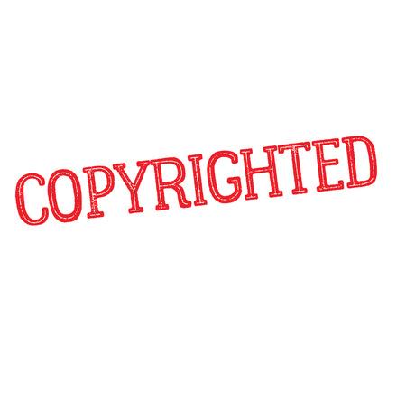 copyrighted rubber stamp Illustration