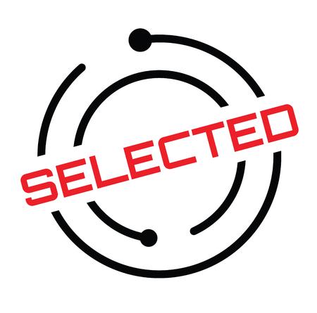 selected rubber stamp black. Sign, label sticker Illusztráció