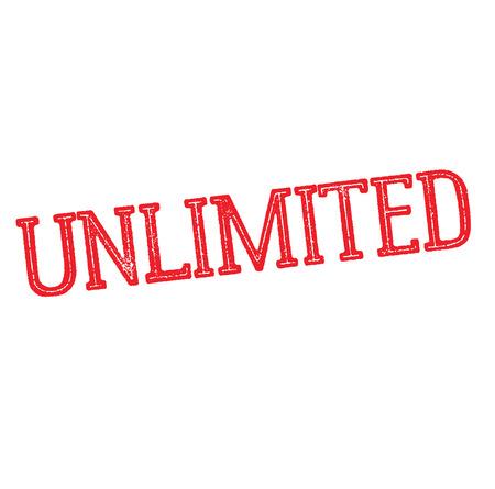 unlimited rubber stamp black. Sign, label sticker Иллюстрация
