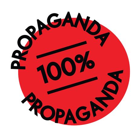 propaganda rubber stamp black. Sign, label sticker