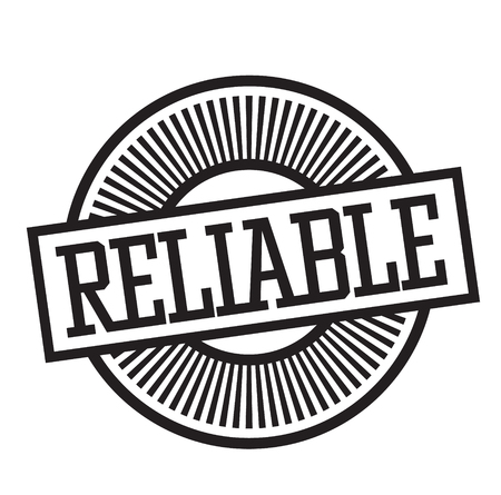 reliable rubber stamp black. Sign, label sticker Çizim