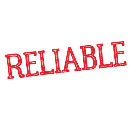 reliable rubber stamp black. Sign, label sticker Illustration
