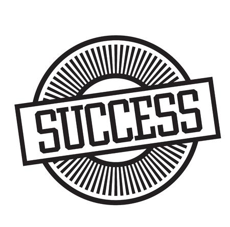 success rubber stamp black. Sign, label sticker