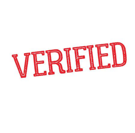 verified rubber stamp black. Sign, label sticker