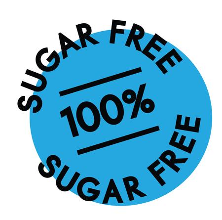 sugar free rubber stamp black. Sign, label sticker