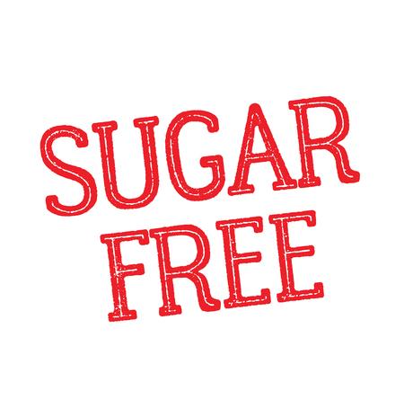 sugar free rubber stamp black. Sign, label sticker Reklamní fotografie - 110402669