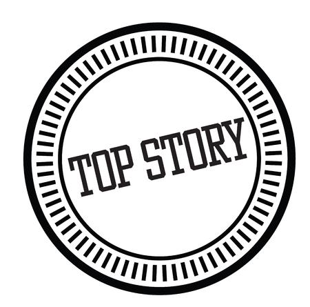 top story rubber stamp Illustration