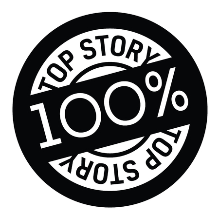 top story rubber stamp Stock Vector - 107521403