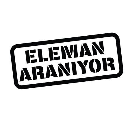 now hiring black stamp in turkish language. Sign, label, sticker