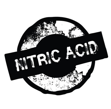 nitric acid black stamp on white background. Sign, label, sticker Stock Illustratie