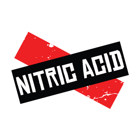 nitric acid black stamp on white background. Sign, label, sticker Illusztráció