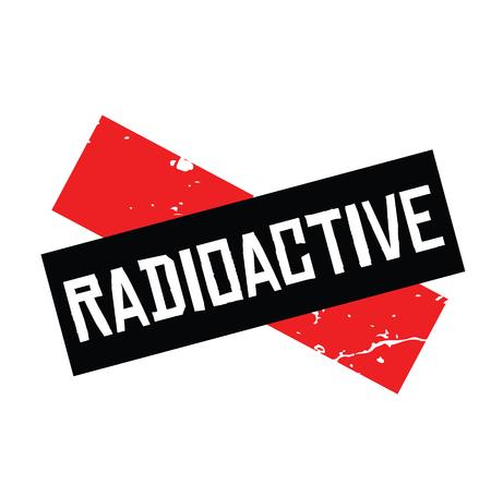 radioactive black stamp on white background. Sign, label, sticker  イラスト・ベクター素材