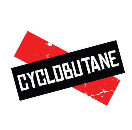 cyclobutane black stamp on white background. Sign, label, sticker