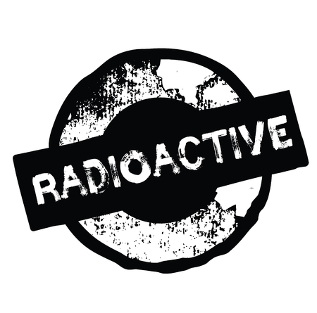 radioactive black stamp on white background. Sign, label, sticker