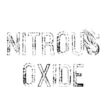 nitrous oxide black stamp on white background. Sign, label, sticker
