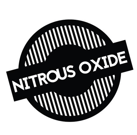 schwarzer Lachgasstempel auf weißem Hintergrund. Schild, Etikett, Aufkleber Vektorgrafik