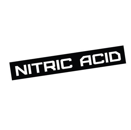 nitric acid black stamp on white background. Sign, label, sticker