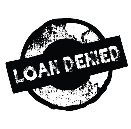 loan denied black stamp on white background. Sign, label, sticker