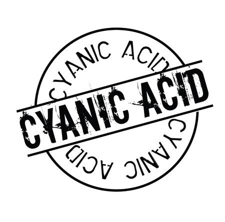 cyanic acid stamp on white Ilustração