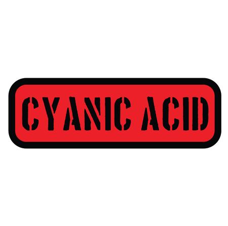 cyanic acid stamp on white Illustration