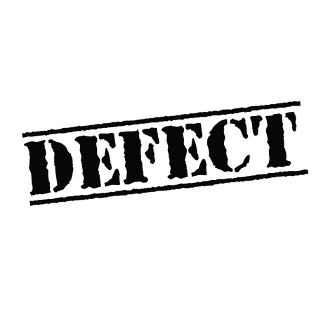 defect black stamp on white background. Sign, label, sticker 矢量图像
