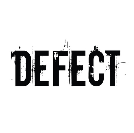 defect black stamp on white background. Sign, label, sticker Ilustrace