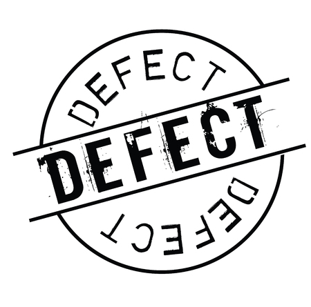 defect black stamp on white background. Sign, label, sticker Illustration