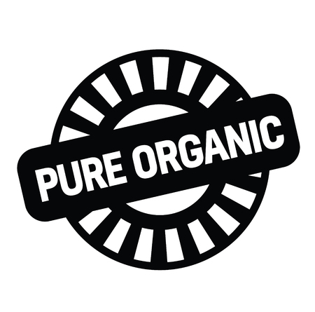pure organic black stamp on white background. Sign, label, sticker Çizim